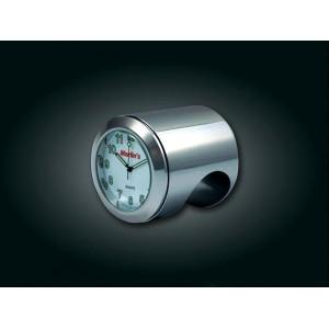 Zegarek na kierownicę biała tarcza Kuryakyn 6053